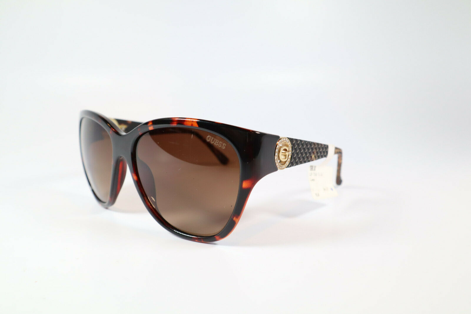 GUESS GUP 7348 TO-34 Tortoise 60-16-130 Women's Polarized Sunglasses Defect