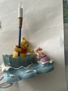 Hampton Bay Winnie the Pooh & Piglet Blustery Day Upside Down Umbrella Lamp