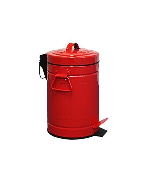 Retro Kitchen Bin Red Steel Bathroom Vintage Waste Bins 3l Us Style Ebay