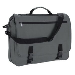Image is loading Grey-Messenger-Satchel-Briefcase-Work-College-School- Utility- 2cdca3e7f3873