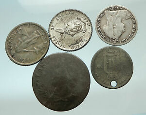 GROUP-LOT-of-5-Old-SILVER-Europe-or-Other-WORLD-Coins-for-your-COLLECTION-i75775