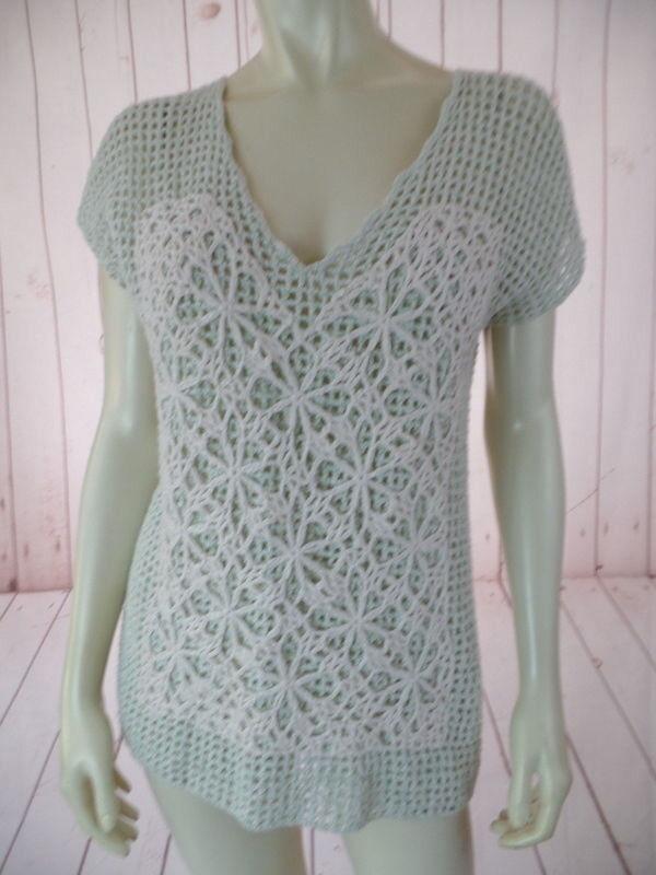 Field Flower Anthropologie Sweater Vest XS Mint G… - image 2