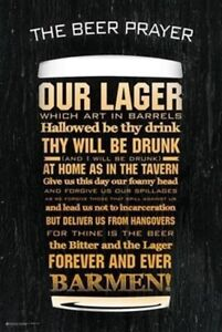THE-BEER-PRAYER-OUR-LAGER-WHICH-ART-IN-BARRELS-24x36-MAN-CAVE-POSTER