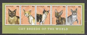 Tuvalu 2012 cats domestic animals klb MNH