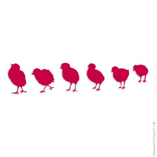 Row of Chicks Decal Sticker Choose Color Size #823