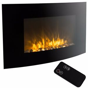 "XL Large 35""x22"" 1500W Adjustable Heater Electric Wall Mount Fireplace Elegant 