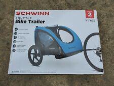 Black NEW Schwinn Shuttle Foldable Bike Trailer 2 Passengers Blue