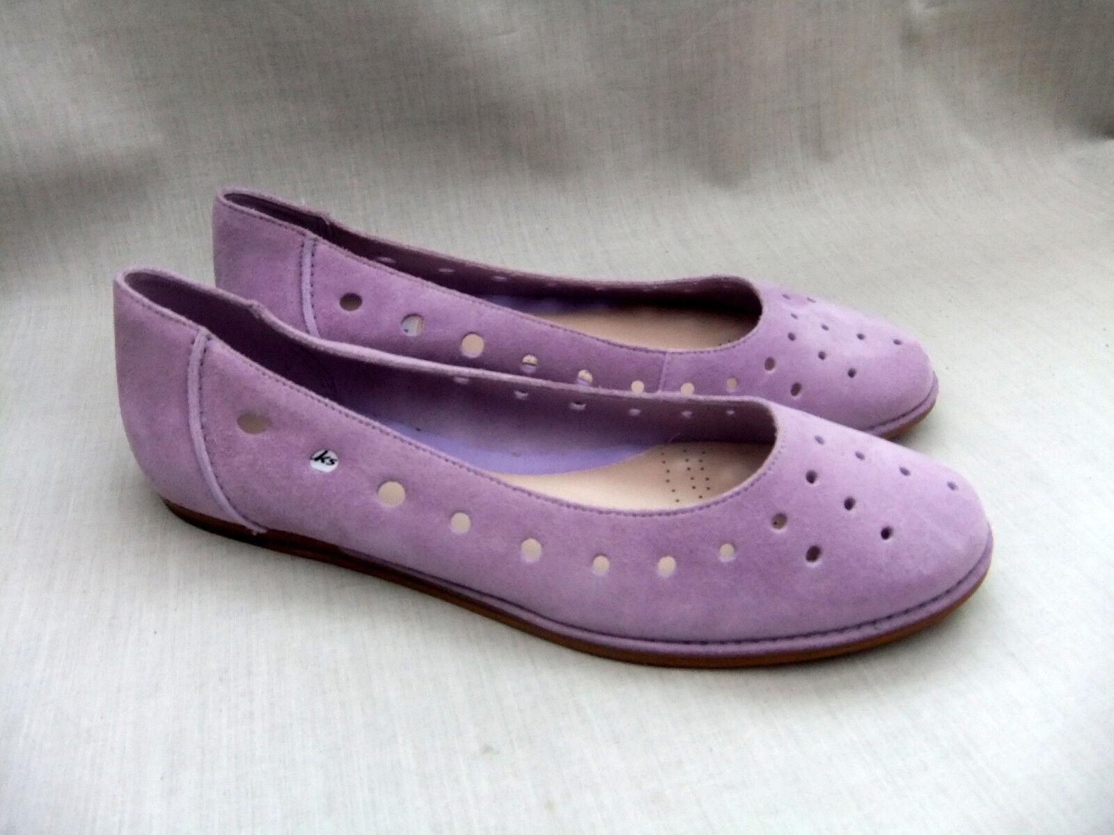 New Clarks Paillettes Piscine Femme violets Chaussures en daim taille 8 42