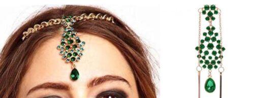 Tikka  Stirnschmuck Haarschmuck Bindi Stirnkette Kopfkette Kopfschmuck BA/_508