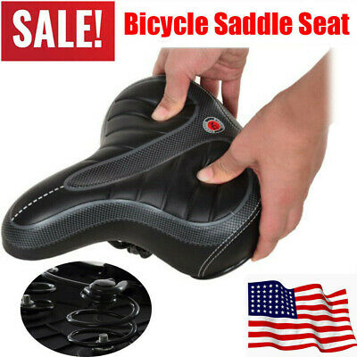 Bicycle Saddle Seat mountain Bike Big Bum Gel Cruiser Extra Comfort Sporty Soft