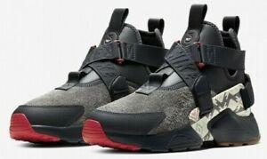 NIKE AIR HUARACHE CITY UTL PRM N7 $160 Women's Running shoes AT6175 001 Black