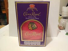 CROWN ROYAL LIMITED EDITION CHICAGO BLACKHAWKS RED BAG AND BOX NEW