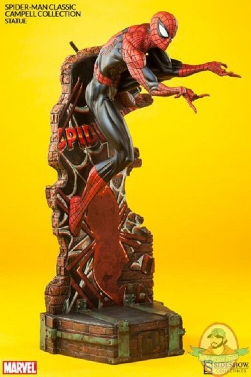 Marvel Spider-Man Classic Polystone Statue J. Scott Campbell Sideshow