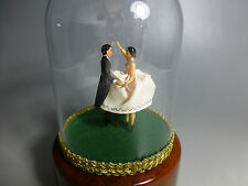 EXC VINTAGE REUGE DANCING COUPLE BALLERINA MUSIC BOX AUTOMATON (WATCH THE VIDEO)