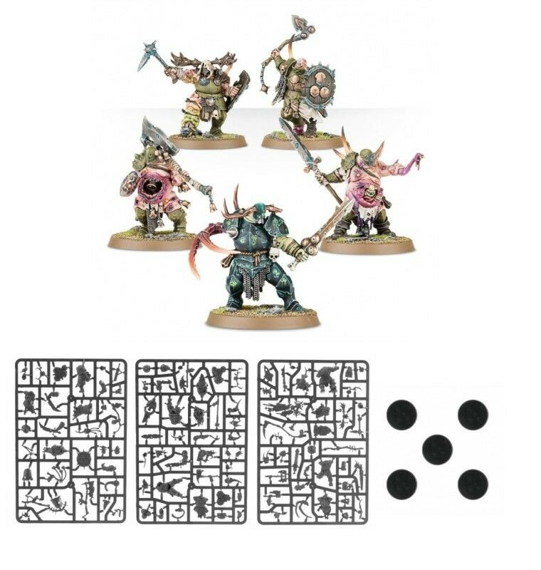 Warhammer Quest Shadows Over Hammerhal 5 x Putrid Blightkings - Age of Sigmar