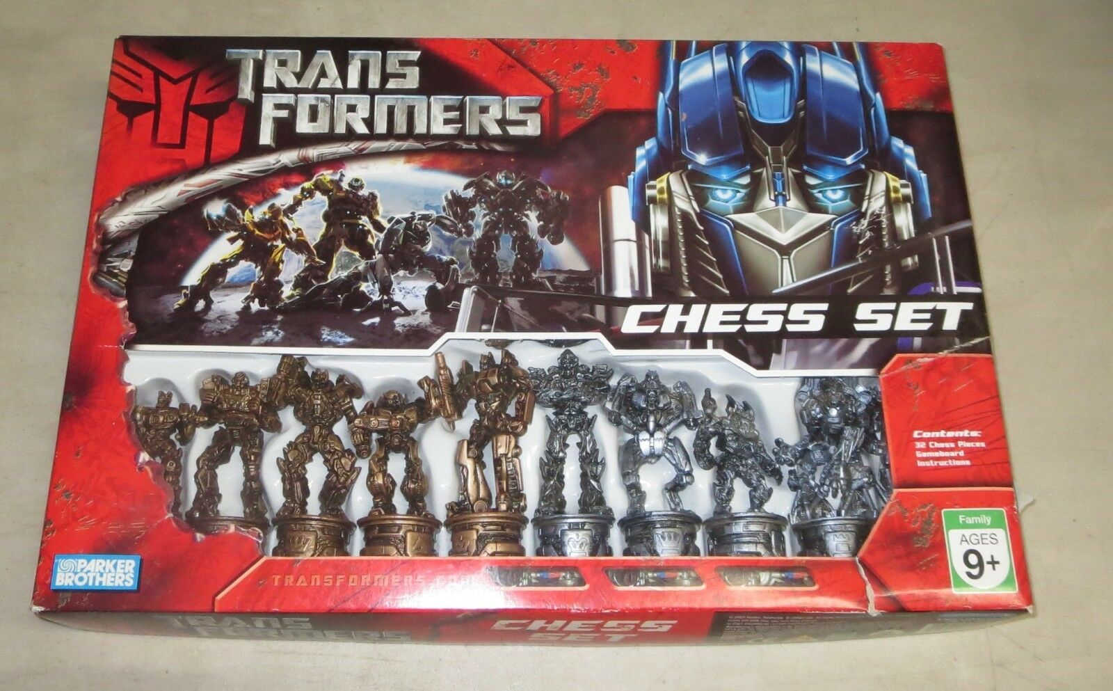 TRANSFORMERS CHESS  COMPLETE, Pre-owned HASBRO, Movie Designs