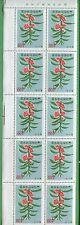Block of 10 - 1965 Korea Stamps # 462 Cat Value $24 Garden Balsam Flowers
