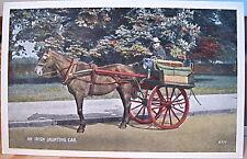 Irish Postcard JAUNTING CAR Jarvey Ireland Valentine White Border R.777 Eire
