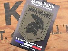 "Snake Patch "" BLASON FORCES SPECIALES "" OD BV Spartiate SPARTAN COS COMMANDO HK"
