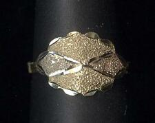 14K Solid Yellow White & Rose Gold Size 2.5 Flower Leaf Leaves Ring Lot sS