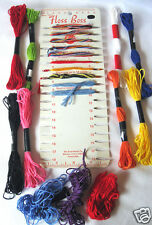 FLOSS BOSS Yarn Organizer by Boye & Embroidery Floss Unbranded 11 Asstd Colors