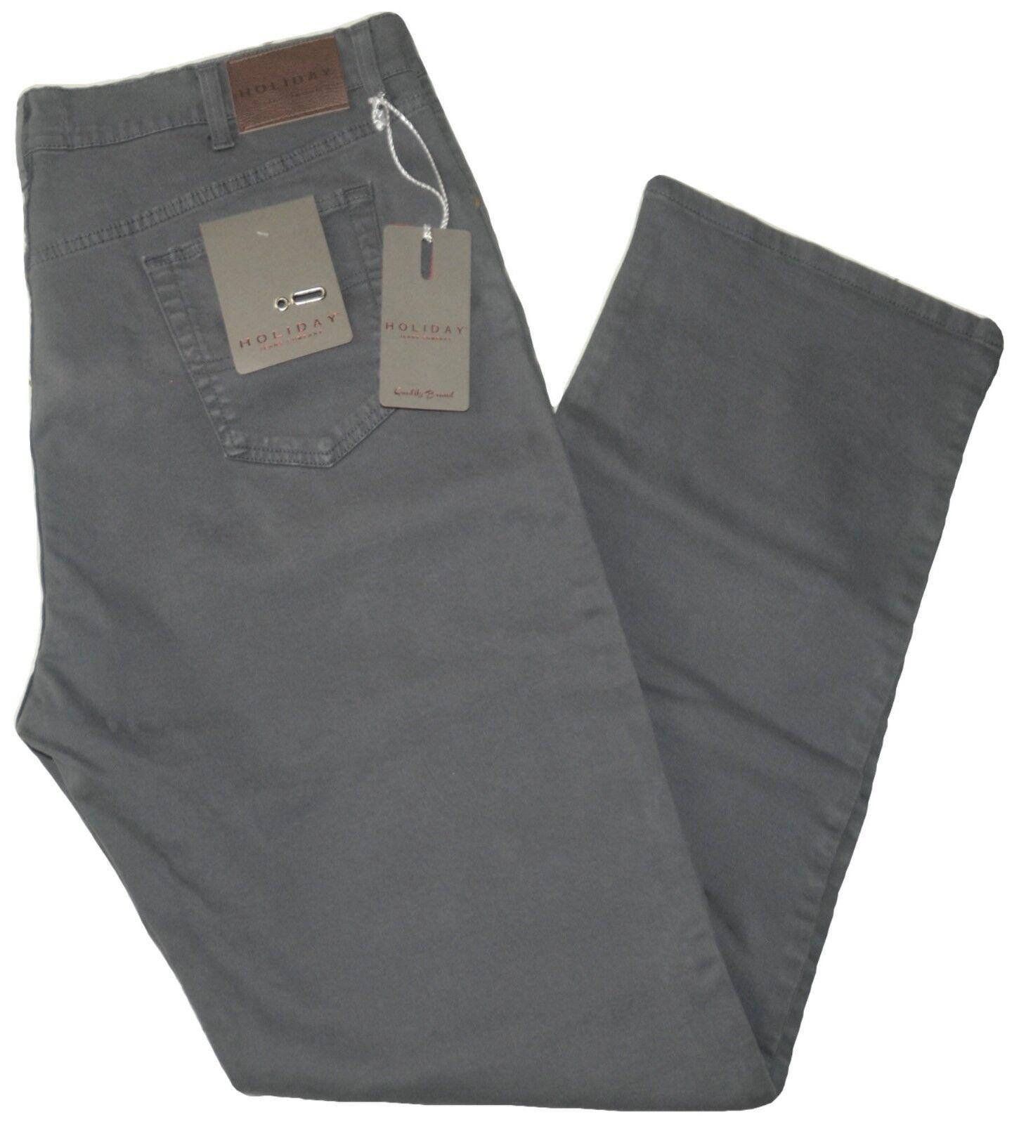 Pantalone uomo uomo uomo jeans taglie forti 62 64 66 68 HOLIDAY cotone pesante grigio 288212