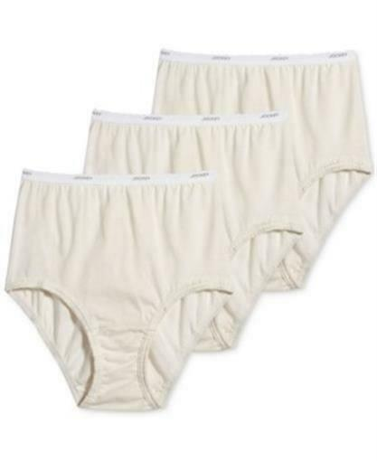 Jockey Classic Fit Brief Scalloped Elastic Waistband 100/% Cotton 3 Pack