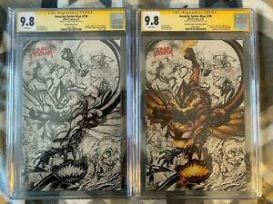 Amazing-Spider-Man-798-799-CGC-SS-9-8-Virgin-Covers-Signed-by-Tyler-Kirkham