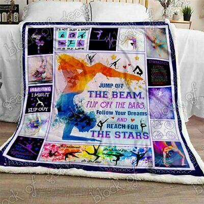Jewish Blessings Sofa Fleece Blanket 50x60x80 Made In US