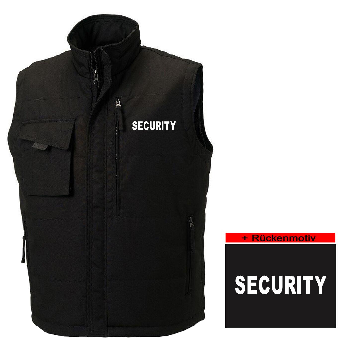 SECURITY-WESTE | Bodywarmer | sehr strapazierfähig | Sicherheitsdienst 747-37-02