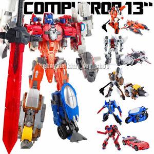 """IN Stock WJ 5 in 1 Metal Robots Combiner Computron 13/"""" Action Figure Kids Gift"""
