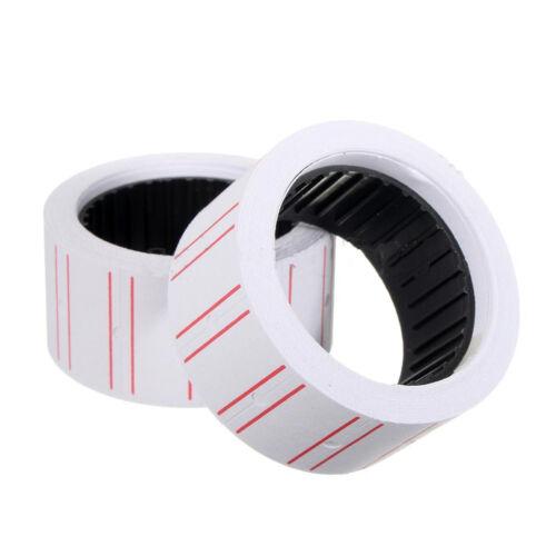 10 Rolls Price Label Paper Tag Sticker MX-5500 Labeller Gun White Red Line  OD