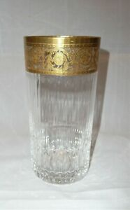 SAINT-LOUIS-FRENCH-CRYSTAL-Gold-Cutted-Water-Glass-14-2cm-5-6inch