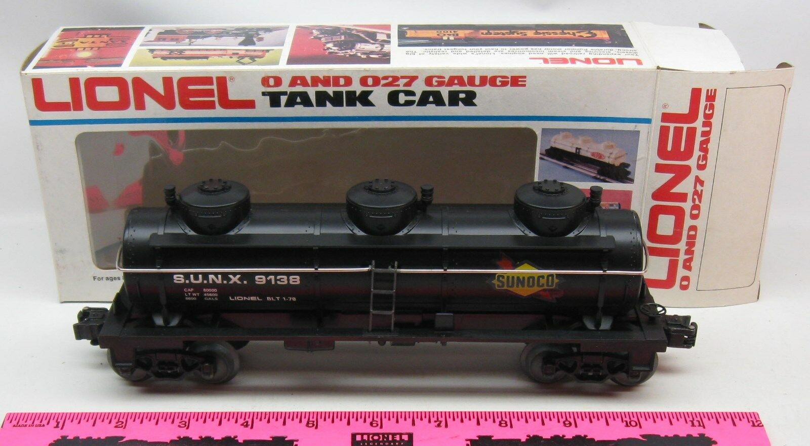Lionel 6-9138 Sunoco 3-D tank car