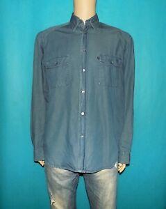 chemise-jean-TRUSSARDI-coupe-classique-en-coton-bleu-taille-L