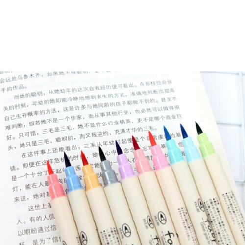 10 X Fabricolor touch write brush pen Color Calligraphy marker pens set Chines