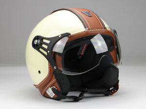 jethelm motorradhelm rollerhelm beige gl nzend oder. Black Bedroom Furniture Sets. Home Design Ideas