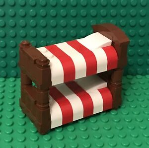 Lego New Bunk Bed Moc City Mini Figures Interior Furniture