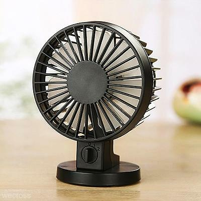 Home Office Portable Creative Mute Double-vane USB Electric Desktop Computer Fan
