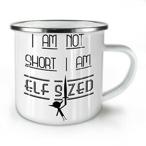 Short Sized People NEW Enamel Tea Mug 10 oz   Wellcoda