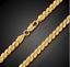 18k-Goldkette-Koenigskette-vergoldet-50cm-4MM-Damen-fuer-Herren-Maenner-Halskette Indexbild 2