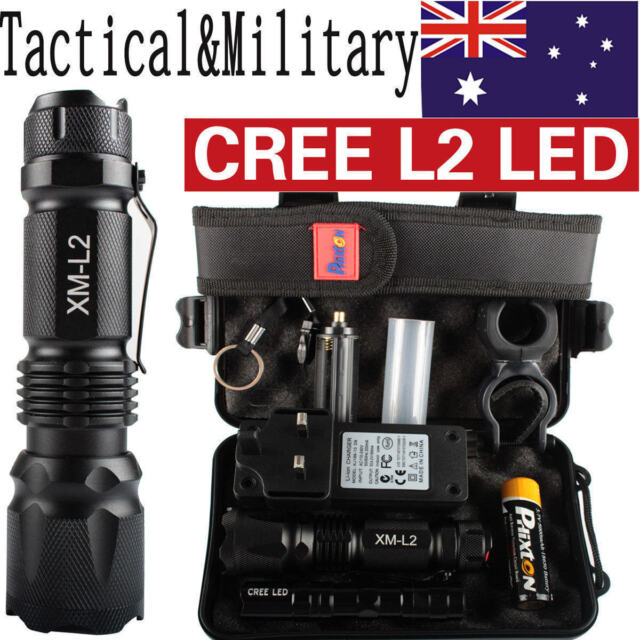 20000LM X800 Shadowhawk Tactical*Military CREE L2 LED Flashlight Torch Gift Sets