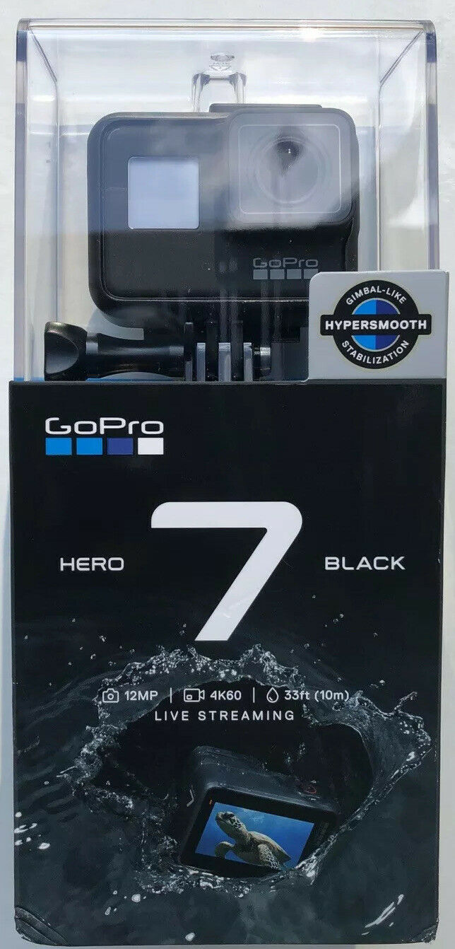 GoPro Hero 7 Black Action Camera - Touch Screen - 4K- Waterproof action black camera gopro hero screen touch waterproof