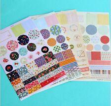 4 sheet round flower paper diary planner album Sticky notes decorative sticker
