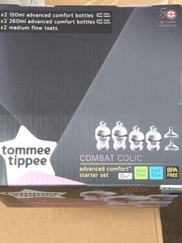 Tommee Tippee Advanced Comfort Vented Anti colic 260ml//9oz Bottles Starter Kit