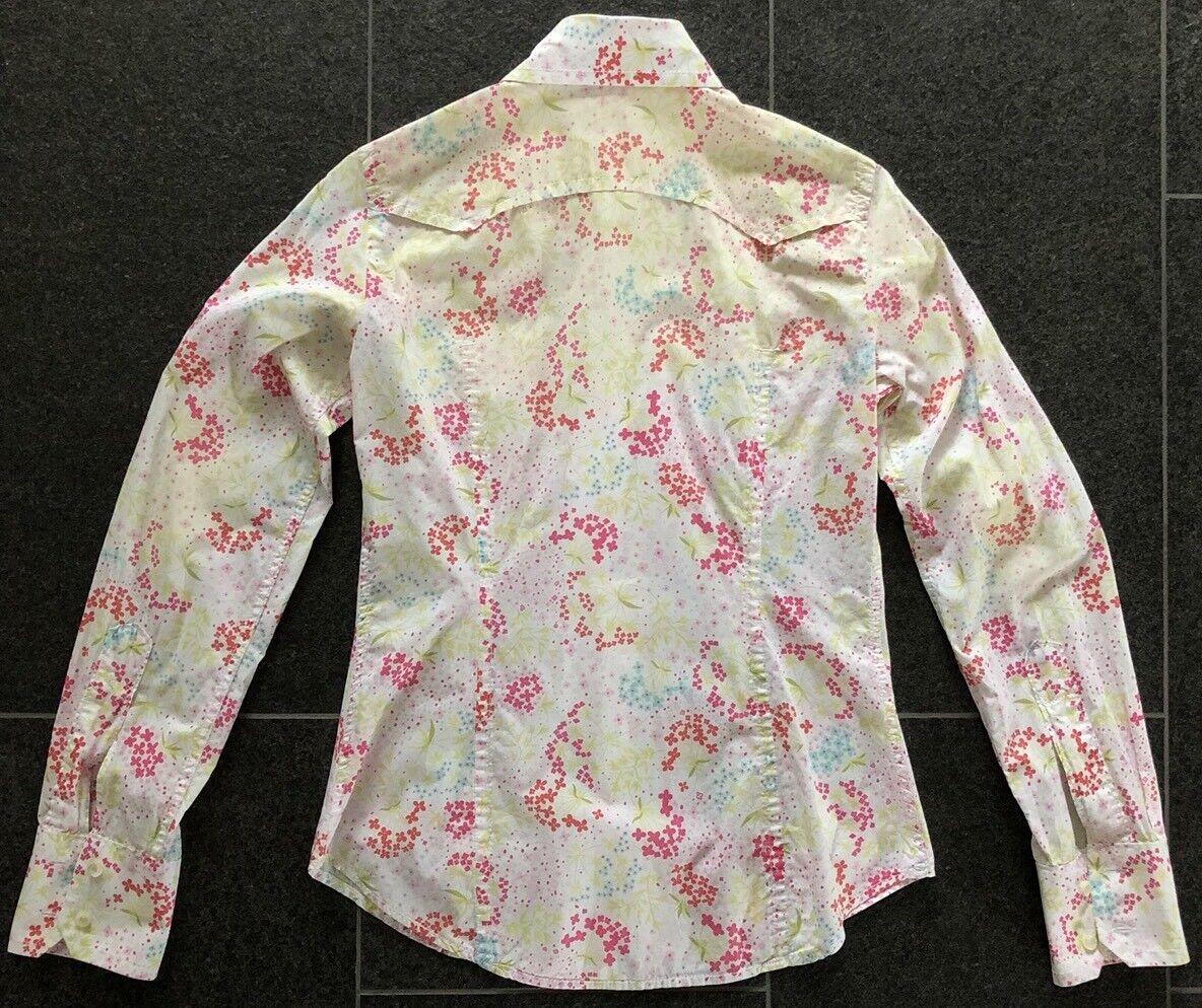 DSQUARED 2 S S 2005 Western fiori Blouse Camicia Top Camicia 44 38 Flower Power