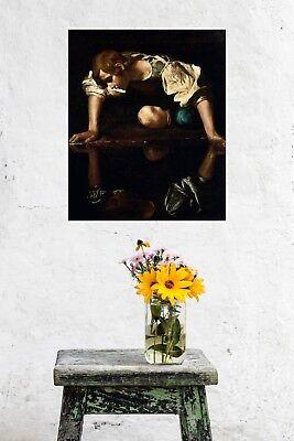 Caravaggio Fine Art Poster Print Narcissus 24x36