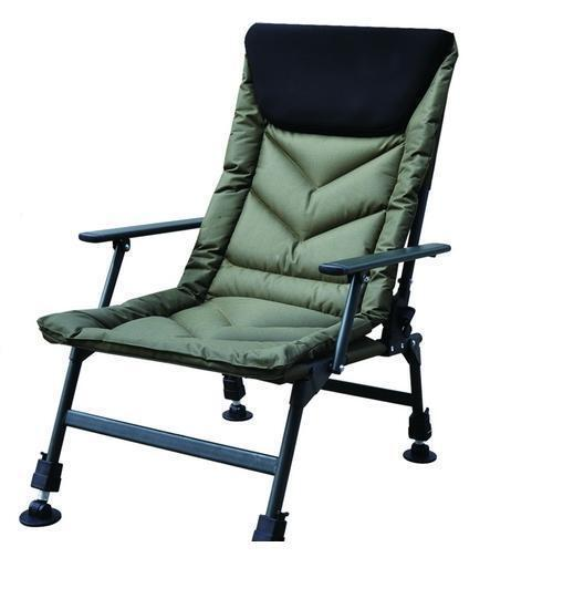 Autop Fishing Camping Chair, Comfort Fleece Headcast, Arms, Reclines (HYC032AL)