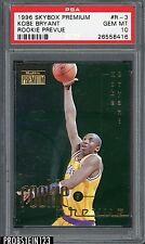 1996-97 Skybox Premium Rookie Prevue #R-3 Kobe Bryant Lakers RC PSA 10 POP 7