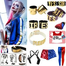 Harley Quinn Temporary Tattoo Set Suicide Squad Costume Halloween Fancy Dress UK